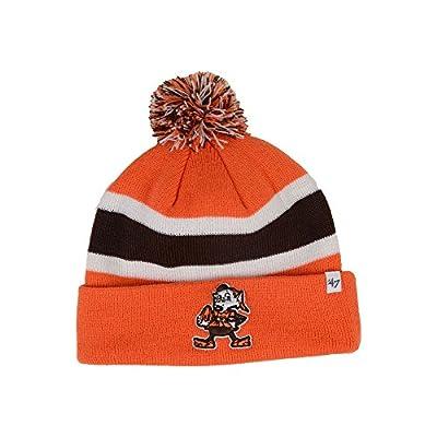 Cleveland Browns Orange Breakaway Cuffed Pom Knit Beanie Hat / Cap