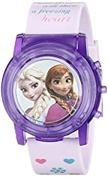 Disney Kids\' FZN6000SR Digital Display Analog Quartz Pink Watch