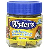 Wyler's Instant Chicken with Herbs & Spices Bouillon Cubes, 3.25 Ounce Jars (Pack of 8)