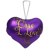 Archies To The One I Love Metallic Heart, Purple (30cm X 30cm)
