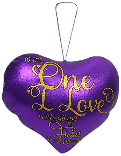 Archies To the One I Love Metallic Heart, Purple (30cm x 30cm)