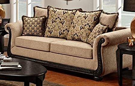 Chelsea Home Furniture Lily Sofa, Delray Taupe
