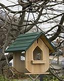 Vogelhaus Vogel Futterstation Vogelhäuschen aus Holz, auch für Erdnüsse
