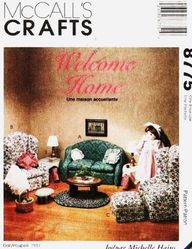 "Mccall'S 8775 ~ Living Room Furniture Sewing Pattern For 18"" Dolls ~ American front-946854"