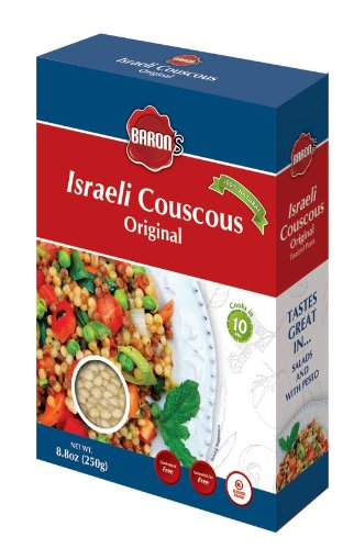 Baron's Kosher Original Traditional Israeli Couscous Toasted Pasta 8.8-ounce Boxes (Pack of 6)