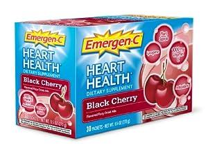 Emergen-C Heart Health, Black Cherry, 30 Count, 9.5 oz