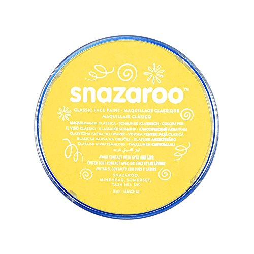 Snazaroo Classic Face Paint, 18ml, Bright Yellow