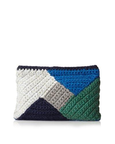 Lorenza Gandaglia Women's Vera Colorblock Clutch  [Blue]