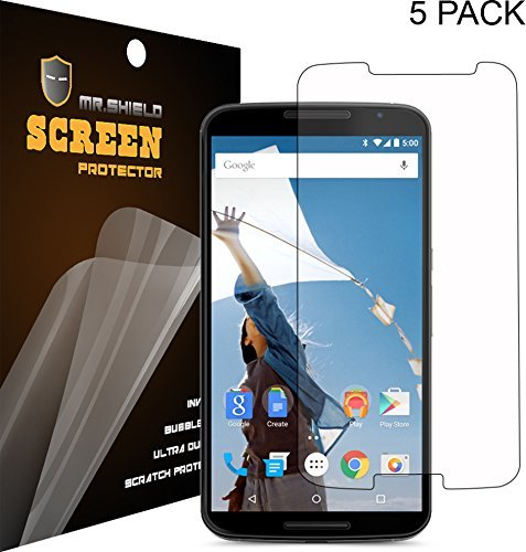 [5-Pack] Mr Shield For Google (Moto) Motorola Nexus 6 Premium Clear Screen Protector With Lifetime Replacement Warranty