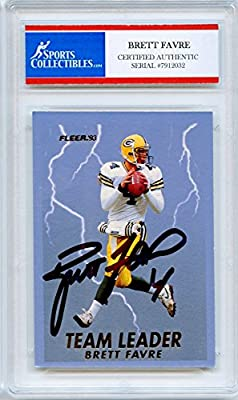 Brett Favre Autographed Green Bay Packers Encapsulated Trading Card - Certified Authentic