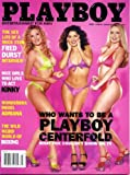 Playboy July 2002 Fred Durst/Limp Bizkit Interview, Chris Isaak 20 Questions, Steve Almond Fiction, University of Florida Student Pictorial, Making of Fox's Search for a Playboy Centerfold Pictorial, John Woo Profile