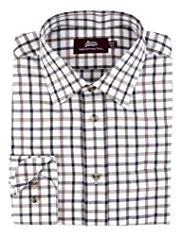 Pure Cotton Checked Twill Shirt