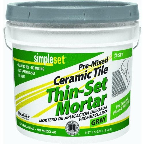 Custom Building Prod. CTTSG3 Simpleset Pre-mixed Tile And Stone Thin-set Mortar
