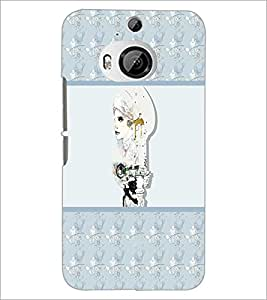 PrintDhaba Pattern D-2712 Back Case Cover for HTC ONE M9 PLUS (Multi-Coloured)