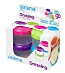 Sistema Dressing Pots to Go - Pack of 4