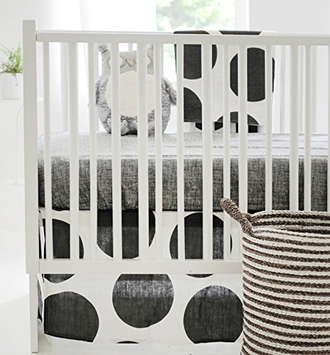 New Arrivals 2 Piece Crib Bed Set, Spot on Charcoal