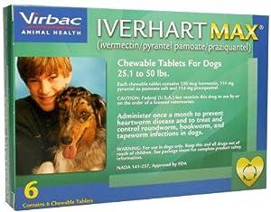 Iverhart Max (Green) - 25.1-50 lbs - 6 count
