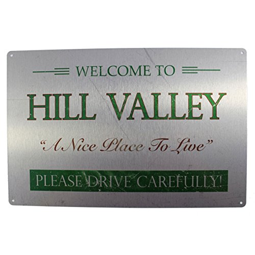 """Back to the Future: """"Welcome to Valley Hill Movie Metal sign"""