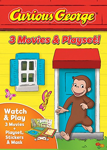 Curious George: 3-movies & Playset (3 Pack, 3PC)