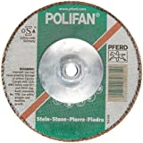 PFERD Polifan SG Abrasive Flap Disc, Type 27, Threaded Hole, Phenolic Resin Backing, Silicon Carbide