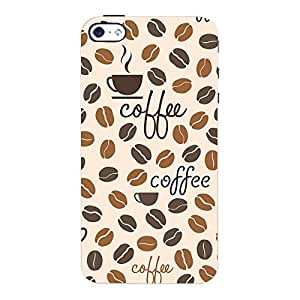 ColourCrust Apple iPhone 4S Mobile Phone Back Cover With Coffee Beans Pattern Style - Durable Matte Finish Hard Plastic Slim Case