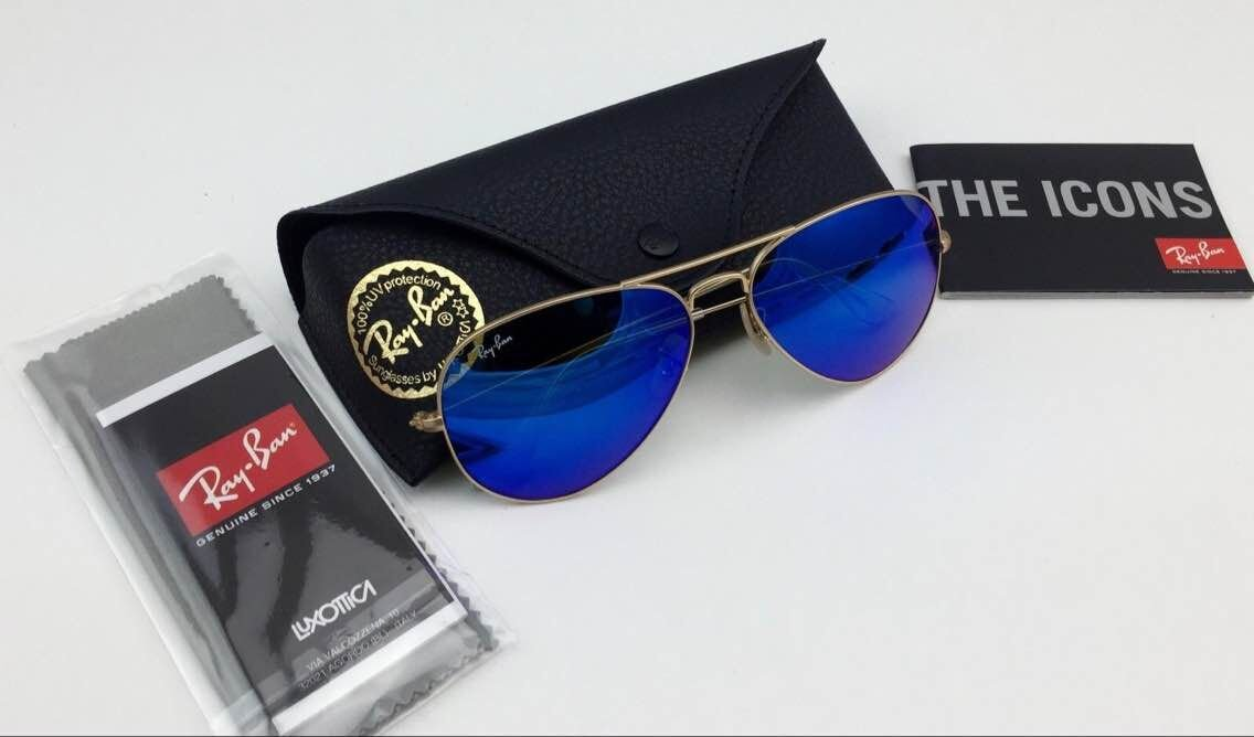 blue aviator sunglasses  ban aviator