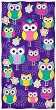 Owl Design Beach Towel
