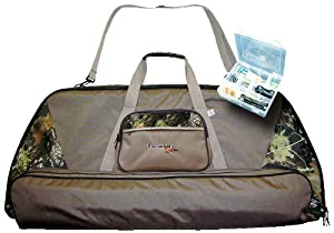 Tarantula Deluxe Bow Case with Tackle Box Stone (Camo Mixed Color, Single) by Sportsan