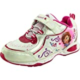 DISNEY Sofia the First Lighted Running Shoe (Toddler/Little Kid),White/Fucshia,9 M US Toddler