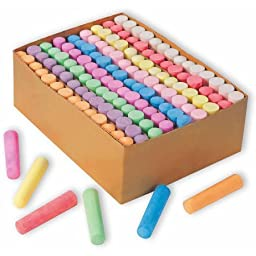 Color Splash! Giant Box of Sidewalk Chalk, Box of 126