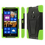 Empire Mpero Collection Tough Armor Kickstand Case for Nokia Lumia 925 - Black/Neon Green