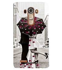 PrintVisa Romantic Love Couple Road 3D Hard Polycarbonate Designer Back Case Cover for LG G4