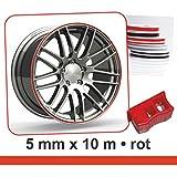 Zierstreifen 'Wheel-Stripes' für Autofelgen rot, 5 mm x 10 m ~~~~~ schneller Versand innerhalb 24 Stunden ~~~~~