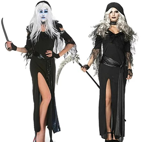 DoLoveY Adult's Halloween Costumes Night Shadow Cosplay Fancy Dress