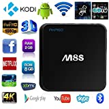 AKASO M8S 4K Android TV Box Amlogic S812 Quad Core 2GB RAM 8GB Flash Fully Loaded KODI With Octa-core GPU,HDMI Daul Band Wifi 2.4GHz+5GHz Bluetooth 4.0 Streaming Media Player