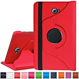 "For Galaxy Tab A 10.1"" Inch T580 T585 Flip Cover Case, 360 Degrees Rotating Stand Flip Case Cover For Samsung Galaxy Tab A 10.1"" Inch SM- T580 T585 Flip Cover Case (Red)"