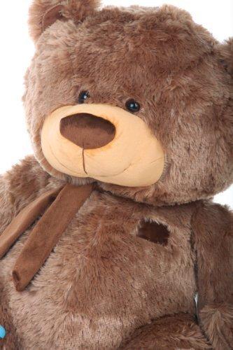 tiny-shags-35-tubby-bellied-extra-huggable-giant-teddy-mocha-brown-plush-teddy-bear