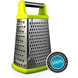 Norö Box Grater - 4-sided Stainless Steel Cheese Grater for Parmesan, Vegetable