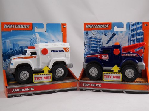 MATCHBOX LIGHTS & SOUNDS VEHICLE (STYLES VARY)