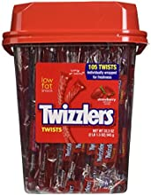 Twizzler Strawberry Twists Individually wrapped Pack of 105