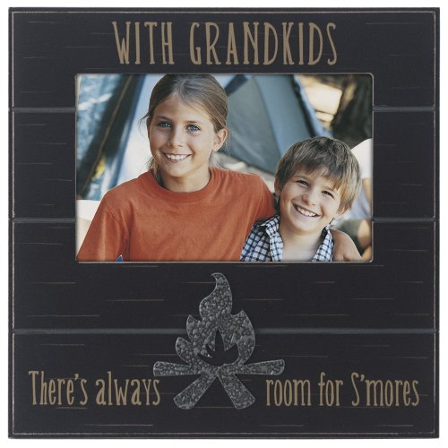 "Malden International Designs Sentiments ""Campfire Grandkids Distressed"" Picture Frame, 4 by 6-Inch, Brown - 1"