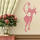 Posh Cat - House Cat Wall Sticker / Big Interior Decor / House Cat Transfer CA22