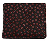 鹿革 印伝 二つ折り 財布 札束入れ 小銭入れ 男女兼用 桜柄 赤