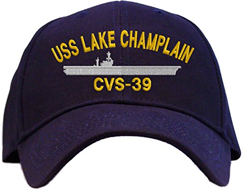USS Lake Champlain CVS-39 Embroidered Baseball Cap - Navy Blue
