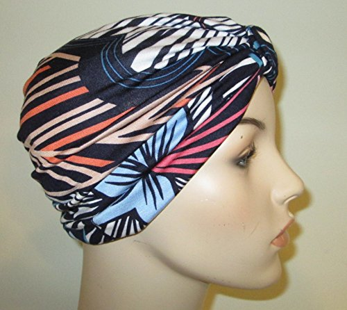 modern-print-lycra-lightweight-cap-chemo-hat-alopecia-head-cover-cancer-beanie