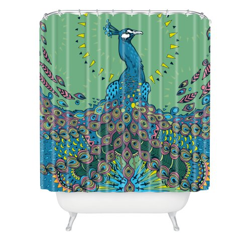 peacock feature special design shower curtain size 60 check price