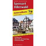 Motorradkarte Spessart - Odenwald: Mit Ausflugszielen, Bikertreffs, Einkehrtipps und Tourenvorschlägen, reissfest, wetterfest, abwischbar, GPS-genau. 1:200000