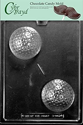 Cybrtrayd S112 Sports Chocolate Candy Mold, Large Golf Ball