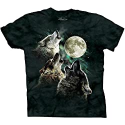 Funny product The Mountain Youth Three Wolf Moon Short Sleeve Tee, Dark Green, Boys 2-4