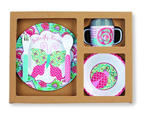Mud Pie Feeding Set, Spring Garden